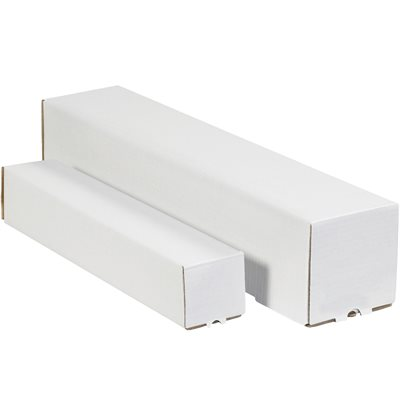 "5 x 5 x 43"" White Square Mailing Tubes"