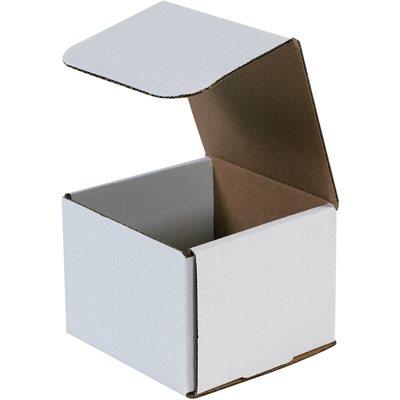 "5 x 5 x 4"" White Corrugated Mailers"
