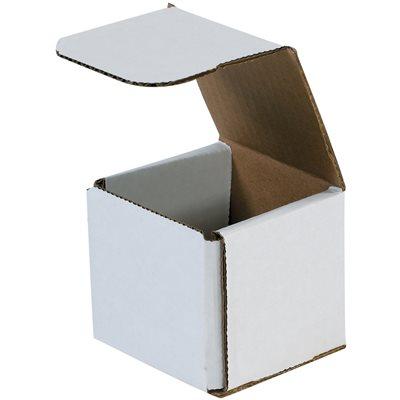 "7 x 7 x 7"" White Corrugated Mailers"