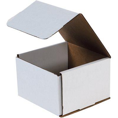 "8 x 8 x 6"" White Corrugated Mailers"