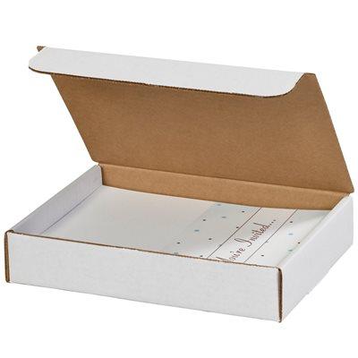 "9 x 6 1/2 x 2 3/4"" White Literature Mailers"