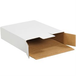 "12 1/8 x 11 5/8 x 2 5/8"" White Side Loading Locking Mailers"