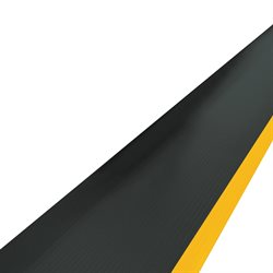 2 1/4 x 3' Black/Yellow Economy Anti-Fatigue Mat