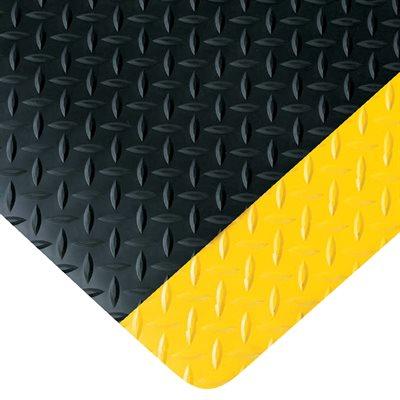 3 x 12' Black/Yellow Diamond Plate Anti-Fatigue Mat