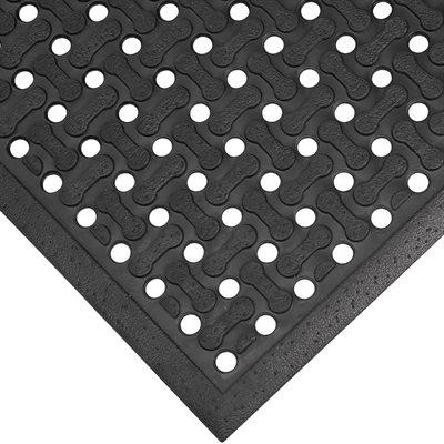 3 x 5' Black Anti-Slip Drainage Mat