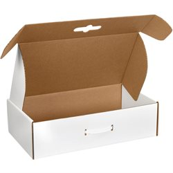 "18 1/4 x 11 3/8 x 2 11/16"" White Corrugated Carrying Cases"