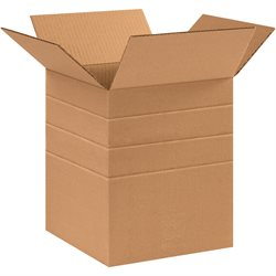 """10 x 10 x 12"""" Multi-Depth Corrugated Boxes"""