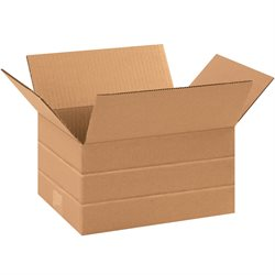 "11 1/4 x 8 3/4 x 6"" Multi-Depth Corrugated Boxes"