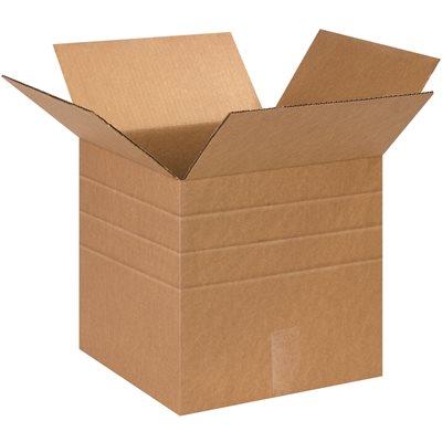 """13 x 13 x 13"""" Multi-Depth Corrugated Boxes"""