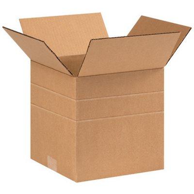 """9 x 9 x 9"""" Multi-Depth Corrugated Boxes"""