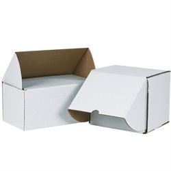 "9 1/2 x 8 x 8"" White Outside Tuck Mailers"