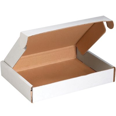 """11 1/8 x 8 3/4 x 2"""" White Deluxe Literature Mailers"""