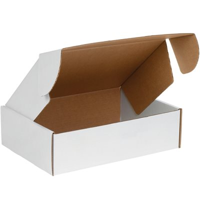 """18 x 12 x 4"""" White Deluxe Literature Mailers"""