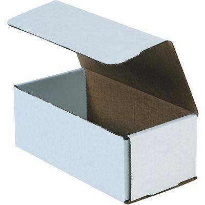 "10 x 4 7/8 x 3 3/4"" White Corrugated Mailers"