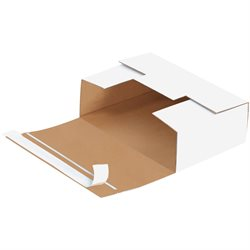 """7 11/16 x 5 7/16 x 2 7/16"""" White Self-Seal DVD Mailers"""