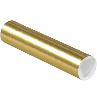 """2 x 9"""" Gold Tubes with Caps"""