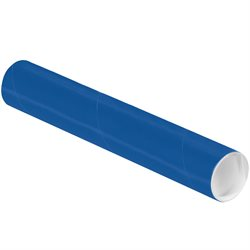 """2 x 12"""" Blue Tubes with Caps"""