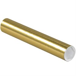 """2 x 12"""" Gold Tubes with Caps"""