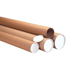 "3 x 36"" Kraft Heavy-Duty Tubes with Caps"