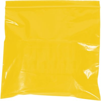 """10 x 12"""" - 2 Mil Yellow Reclosable Poly Bags"""