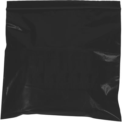 """12 x 15"""" - 2 Mil Black Reclosable Poly Bags"""