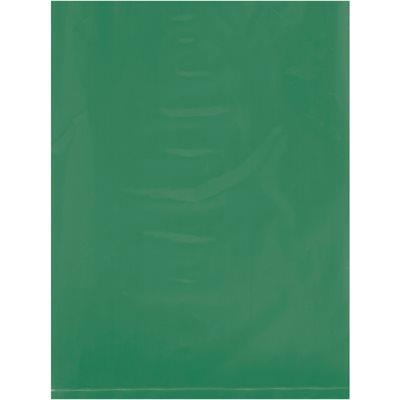 "9 x 12"" - 2 Mil Green Flat Poly Bags"