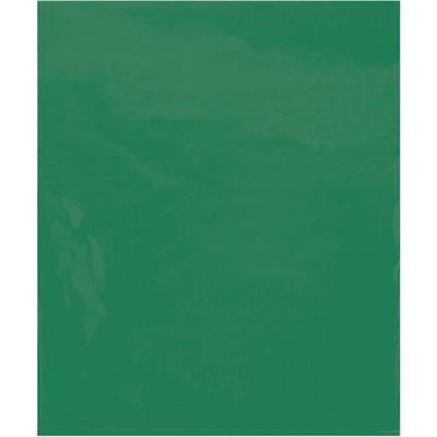 "15 x 18"" - 2 Mil Green Flat Poly Bags"
