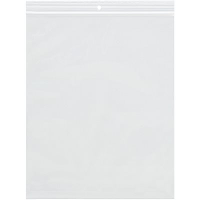 """6 x 14"""" - 2 Mil Reclosable Poly Bags w/ Hang Hole"""