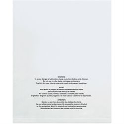 "12 x 15"" - 1 Mil (100 Pack) Flat Suffocation Warning Poly Bags"