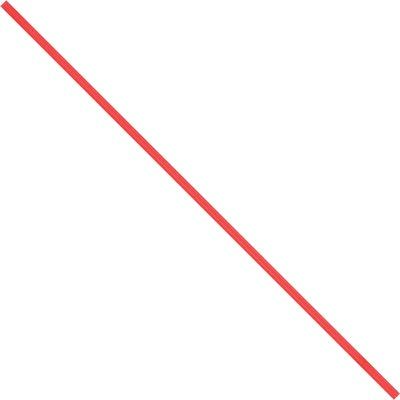 """10 x 5/32"""" Red Paper Twist Ties"""