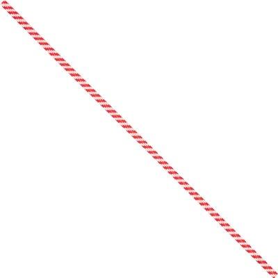 "5 x 5/32"" Red Candy Stripe Paper Twist Ties"