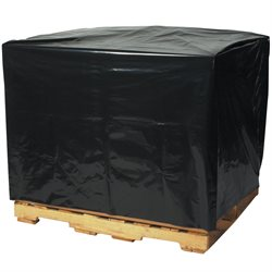 "46 x 42 x 68"" - 2 Mil Black Pallet Covers"