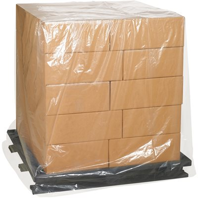 """36 x 27 x 65"""" - 1 Mil Clear Pallet Covers"""