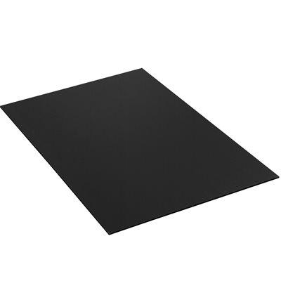 "48 x 96"" Black Plastic Corrugated Sheets"