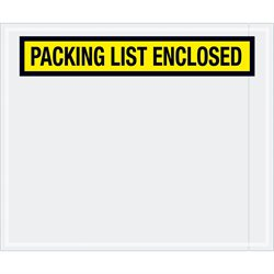 "10 X 12"" Yellow ""Packing List Enclosed"" Envelopes"