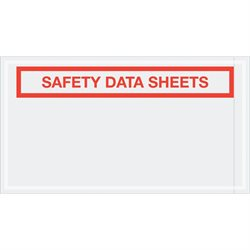 "5 1/2 x 10"" ""Safety Data Sheets"" SDS Envelopes"