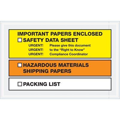 "6 1/2 x 10"" ""Important Papers Enclosed"" SDS Envelopes"