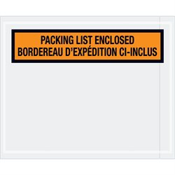 "4 1/2 x 5 1/2"" Bilingual Packing List Envelopes"
