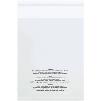 """18 x 24"""" - 1.5 Mil Resealable Suffocation Warning Poly Bags"""