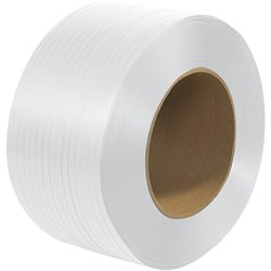 "1/2"" x 7200' - 9 x 8"" Core Machine Grade Polypropylene Strapping - Embossed"