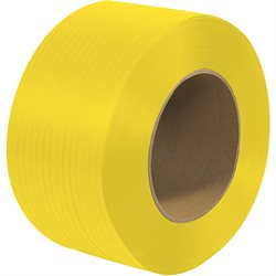"1/4"" x 18000' - 9 x 8"" Core Machine Grade Polypropylene Strapping - Embossed"