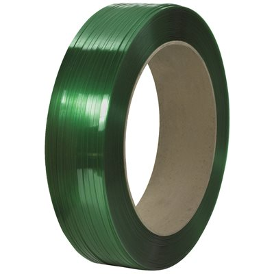 """1/2"""" x 9000' - 16 x 6"""" Core Signode® Comparable Polyester Strapping - Smooth"""