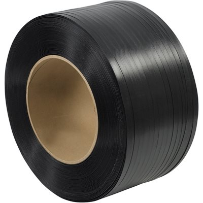 """5/8"""" x 5400' - 8 x 8"""" Core Hand Grade Polypropylene Strapping - Embossed"""