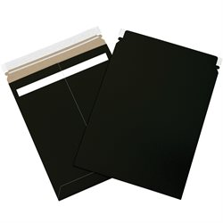 "11 x 13 1/2"" Black Self-Seal Flat Mailers"