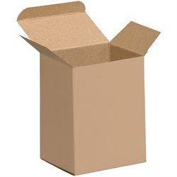 "3 x 2 1/2 x 4"" Kraft Reverse Tuck Folding Cartons"