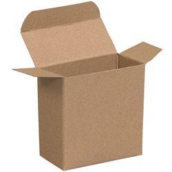 "2 1/8 x 1 1/16 x 2 1/8"" Kraft Reverse Tuck Folding Cartons"