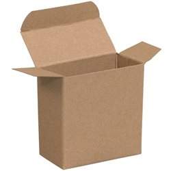 "2 5/8 x 3/4 x 2 5/8"" Kraft Reverse Tuck Folding Cartons"