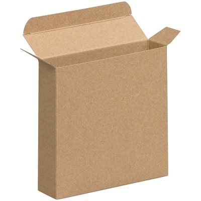"6 3/8 x 1 1/2 x 6 3/8"" Kraft Reverse Tuck Folding Cartons"