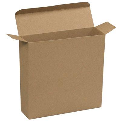 "7 1/4 x 2 x 7 1/4"" Kraft Reverse Tuck Folding Cartons"