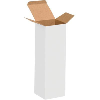 "3 x 3 x 10"" White Reverse Tuck Folding Cartons"